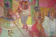 08- La Tauromachie, La peur, 1974-75, huile sur toile, 204 x 256 cm, Coll. Univers Mentor, Solliès-Toucas