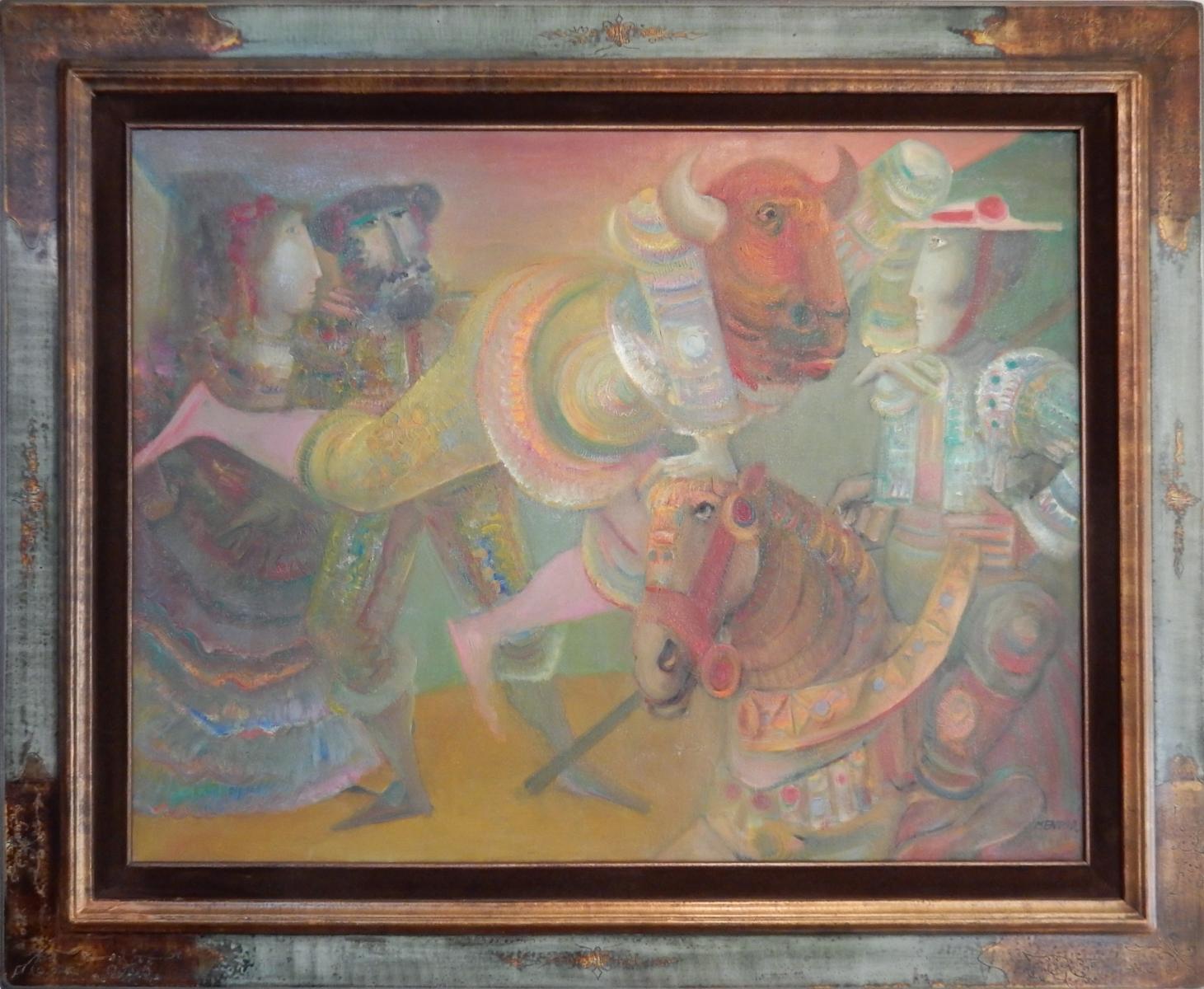 04- MENTOR, La Métamorphose, 1980, huile sur toile, 89 x 116 cm, Coll. part.