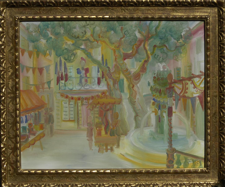 07- La fête aux Toucas, 1975, huile sur toile, 60 x 73 cm, Coll. Univers Mentor, Solliès-Toucas