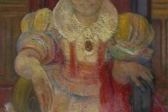 03- Jeune fille assise, ND, huile sur toile, 116 x 89 cm, Coll. Univers Mentor, Solliès-Toucas